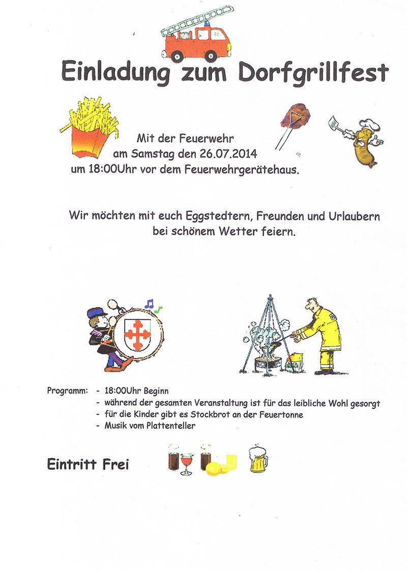 freiwillige feuerwehr eggstedt » einladung grillfest am 26.07.14, Einladungen